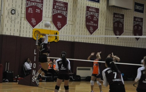 Varsity Volleyball Wins Last Home Game