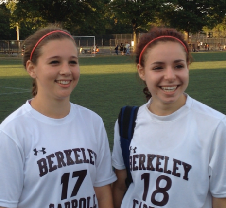 An Homage to the Girls Soccer Captains: Lily Weiss and Claudia Freeman