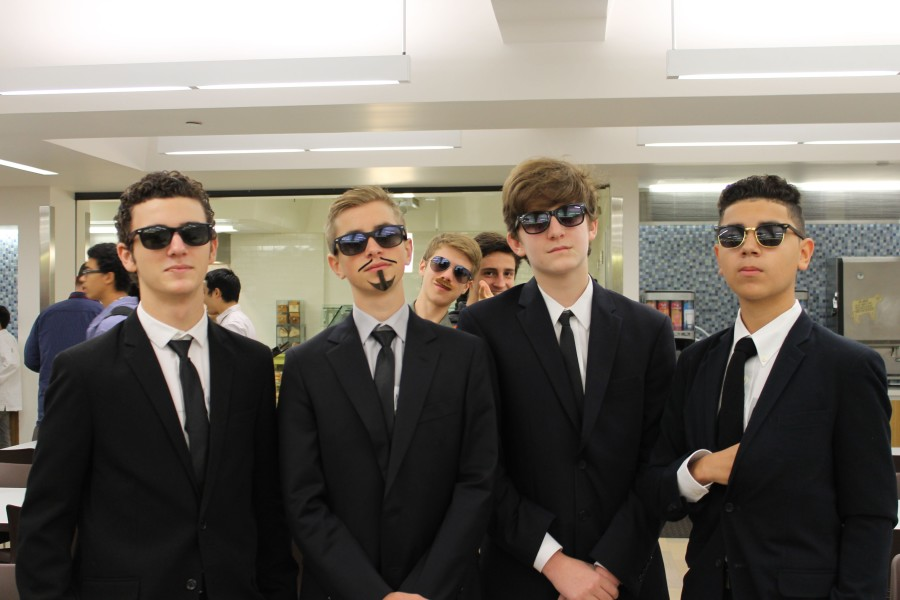 Sophomores win the group portion of the costume contest, dressed as Reservoir Dogs