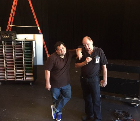 Mr. Indovina and Mr. Kent say goodbye to the old Performance Space.