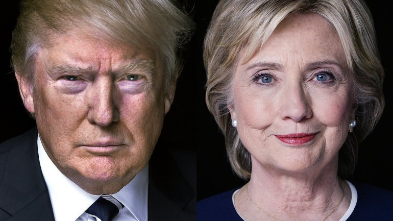 Presidential candidates Donald Trump and Hillary Clinton, photo from Midnight Sun Exclusive