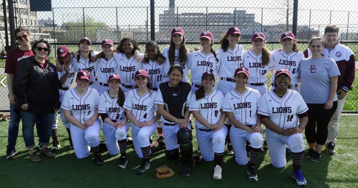 The Girls Varsity Softball Team (from the BC Website)