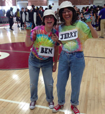 Maddie K. '18 and Chloe S. '18 as Ben and Jerry