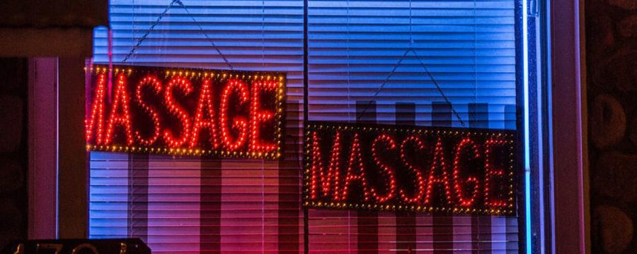 Chinese massage parlors have bcome a hub for human trafficking. Photo from Vice via Wikipedia Commons.