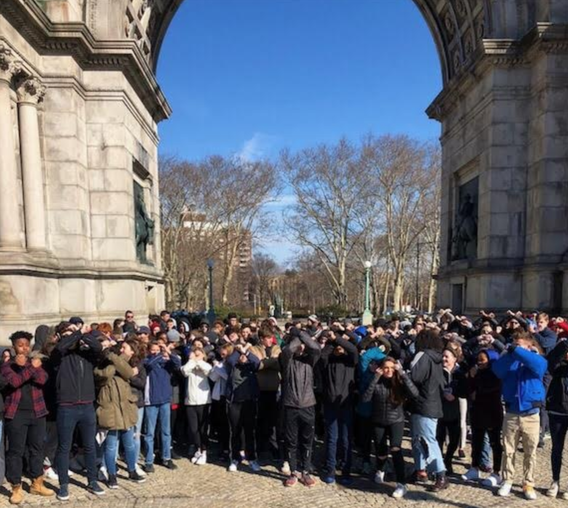 BC Students at Grand Army Plaza