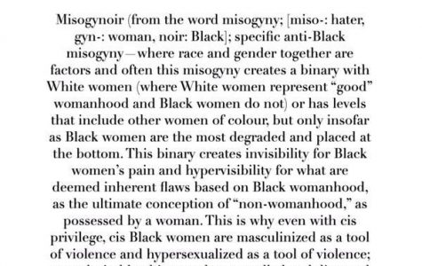 You're Pretty For A Black Girl: An Examination of Misogynoir at BC