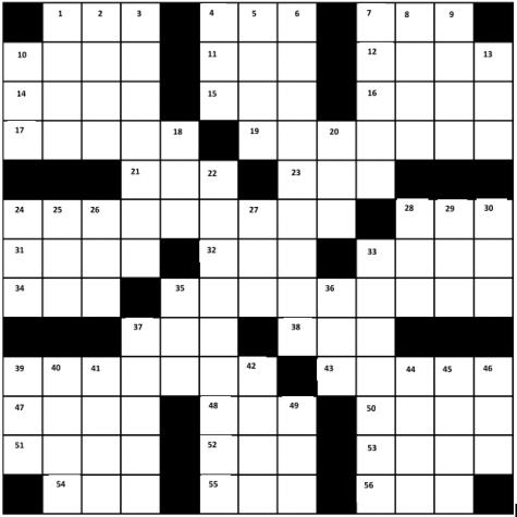 Blotter Crossword!